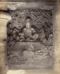 Elephanta - Ravana under Kailasa
